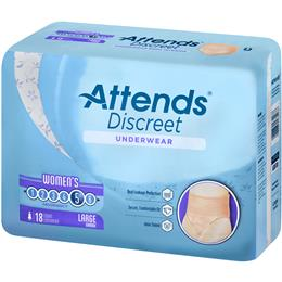 ADUF30 - Attends Discreet Underwear, L, Female, 18 count (x4) - Image Number 103515