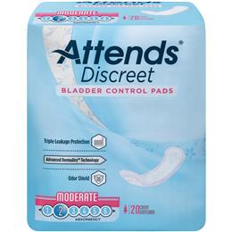 ADPMOD - Attends Discreet Moderate Pads, 20 count (x10) - Image Number 103538