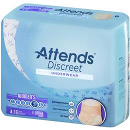 ADUF40 - Attends Discreet Underwear, XL, Female, 16 count (x4) - Image Number 103526