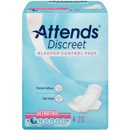 ADPTHIN - Attends Discreet Ultra Thin Pads, 20 count (x24) - Image Number 103549