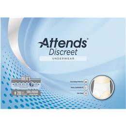 ADUM15 - Attends Discreet Underwear, S/M, Male, 20 count (x4) - Image Number 103532