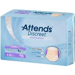 ADUF10 - Attends Discreet Underwear, S, Female, 20 count (x4) - Image Number 103568