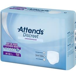 APPNT20 - Attends Discreet Underwear Day/Night Extended Wear, Classic Fit, Medium, 16 count (x4) - Image Number 103499